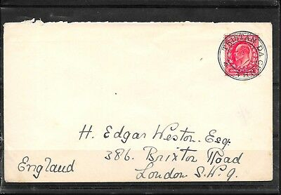 TRISTAN DA CUNHA KEVII 1d USED FINE ON WESTON COVER TO UK CAT £300