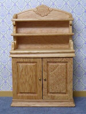 Dolls House 1:12 Scale Pine Furniture Cabinet / Small Dresser With Shelves