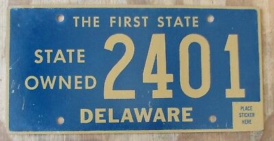DELAWARE STATE OWNED  license plate  1996  2401