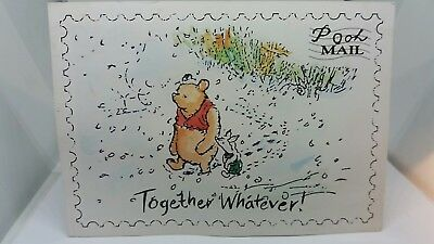New Vintage Postcard Pooh Mail Winnie The Pooh And Piglet Together Disney