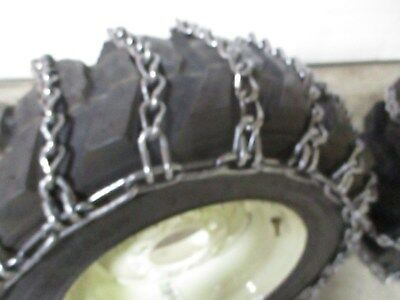 Skid steer tire snow chain traction case hardened 12-16.5 2 Link
