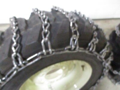 Skid steer tire snow chain traction case hardened 10-16.5 2 Link