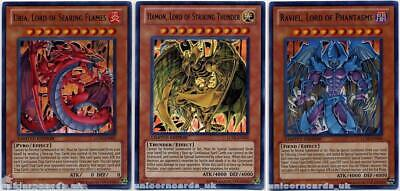 Uria, Hamon and Raviel Sacred Beasts Set :: 3 Ultra Rare Mint YuGiOh Cards