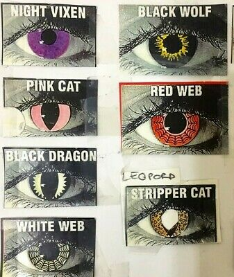 Colored Temporary Contact Lenses For Party Goers, Festivals, Comic Cons