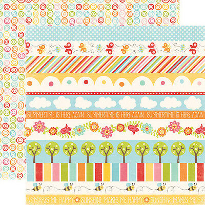 """ECHO PARK - Hello Summer """"Borders"""" 12 x 12 Double-sided Cardstock! HS29012"""