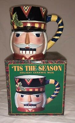 'Tis The Season NUTCRACKER 3D Ceramic Christmas Holiday Mug