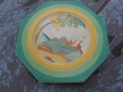 Very Rare Clarice Cliff Hexagonal Plate Secrets Patern Art Deco