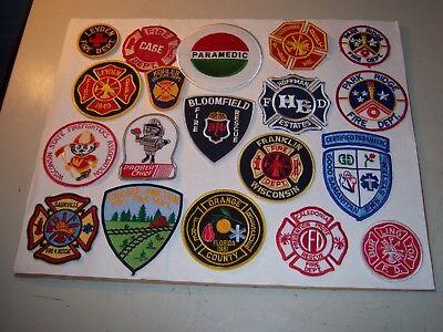 19 Fire Department & Rescue Squad Patches