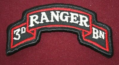 "Vintage Original U.s. Army 3Rd Ranger Battalion 3.5"" Scroll Tab Patch"