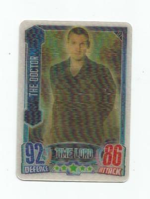 """Topps Doctor Who Alien Attax """"the Doctor"""" #le3 3-D Limited Edition Card"""