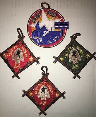 Texas Boy Scout Camp Patches Billy Gibbons Texas Trails Set And Camp Post Round