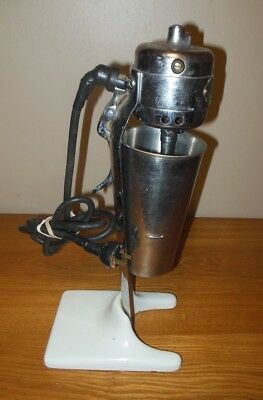 Vintage Gilchrist No 22 Soda Fountain Malt Milk Shake Mixer-Porcelain Base WORKS
