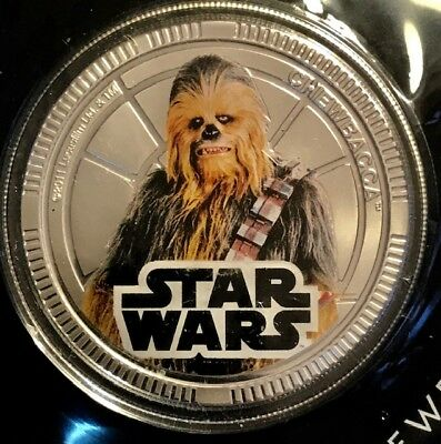 NIUE - One Dollar 2011 - KM-662 - STAR WARS Chewbacca - Legal Tender Coin - OGP