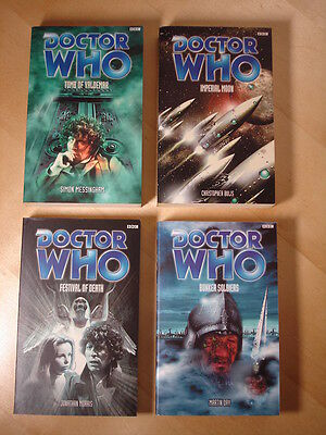 4x Dr Who Books, Tomb Valdemar Imperial Moon Festival Death Bunker Soldiers, Lot