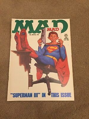 MAD Magazine Superman cover - No.260 December 1983