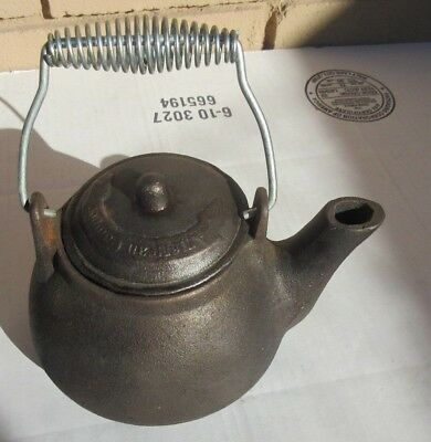 American Camper Small Cast Iron Tea Kettle Excellent Condition