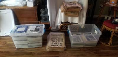 Huge Lot over (120 lbs) Movie Press Kits Photos Lobby Cards & 60's Rag Mags
