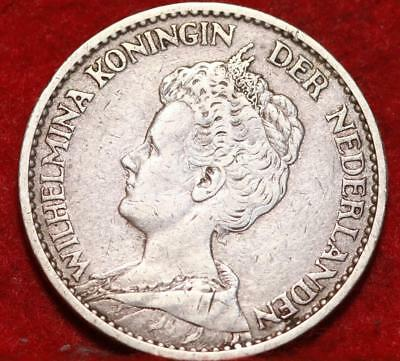 1915 Netherlands 1 Gulden Silver Foreign Coin