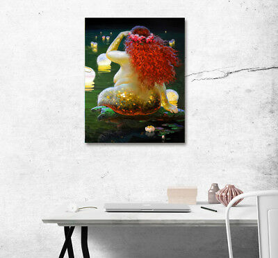 """16X20"""" Abstract Art Paintings Photo Printed On Canvas Decor No Frame Fat Mermaid"""