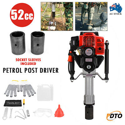 AU Petrol Post Driver 52cc 2 Stroke Pile Picket Star Rammer Farm Fence Fencing