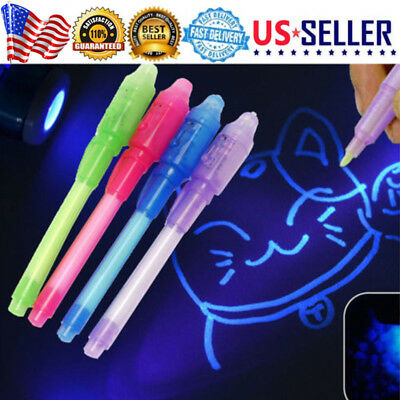 4X UV Light Pen Invisible Ink Security Marker & Built in Ultra Violet LED Light