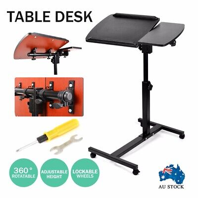 Mobile Laptop Desk Adjustable Notebook Computer iPad PC Stand Bedside Table AU