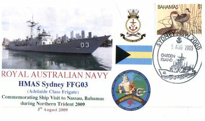 (C1) Naval cover RAN - HMAS Sydney - Northern Trident to Bahamas - 2009