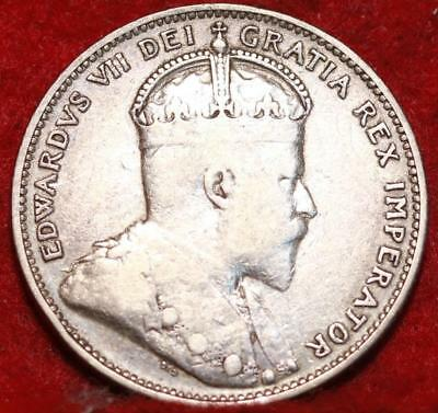 1909 Canada 25 Cents Silver Foreign Coin