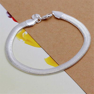 Fashion womens mens White Gold Filled Silver Human type Bracelet jewelry 200mm