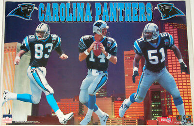 sports shoes 15fa3 98f58 FIRST-EVER CAROLINA PANTHERS POSTER (1995) Sam Mills, Mark Carrier, Frank  Reich