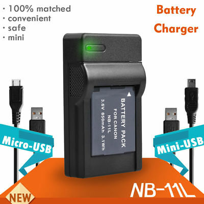 USB Battery Charger Fit for Canon NB-11L IXUS125 HS 240 HS140 HS A4000 A3500 UK