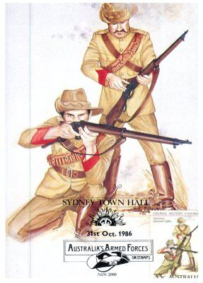 Australia Maxicard 1986 - Colonial Military Uniforms