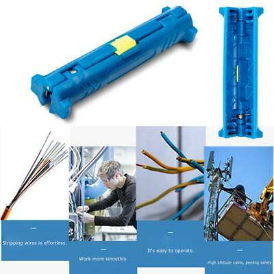 Electrical Wire Stripper Pen Rotary Coaxial Cable Pen Cutter Pliers (Blue)