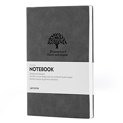 DOTTED Leather Notebook/Journal - Lemome Medium Size A5 Bullet Journal - Premium