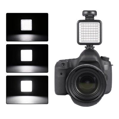 49 LED Video Light Lamp Photographic Photo Lighting for Camera Photography US