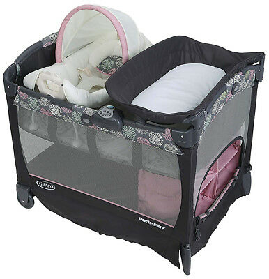 Graco Baby Pack 'n Play Cuddle Cove LX Crib Bassinet Playard Addison NEW