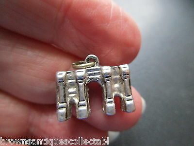 VINTAGE SILVER CHARM ENGLISH STERLING LONDON MARBLE ARCH BRACELET FOB PENDANT uk
