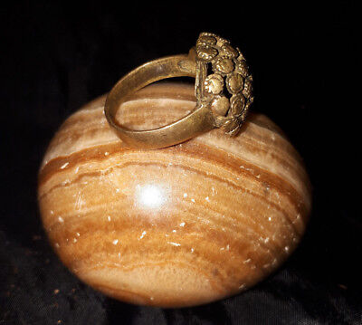 LOW OUTBID !! EXTREMELY Ancient roman BRONZE RING museum quality ARTIFACT- RARE
