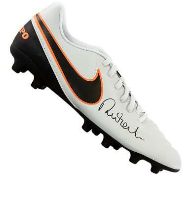 Robbie Fowler Signed Grey Nike Tiempo Boot Autograph Cleat