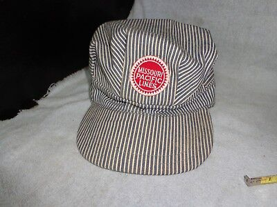 Rare Vintage Missouri Pacific Lines Railroad Railway Hat Cap Engineer Conductor