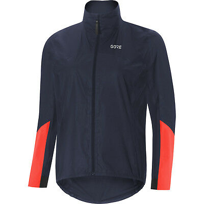 Gore Wear Women's C7 Gore-Tex Shakedry Viz Jacket - Storm Blue/Lumi Orange