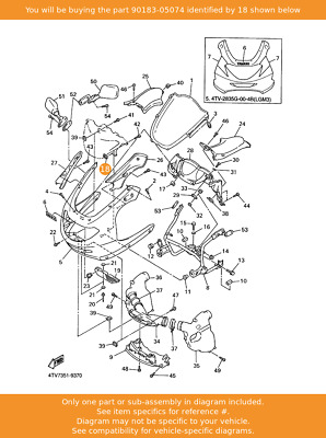 YAMAHA Nut, Spring, 90183-05074 Fowlers Parts OEM