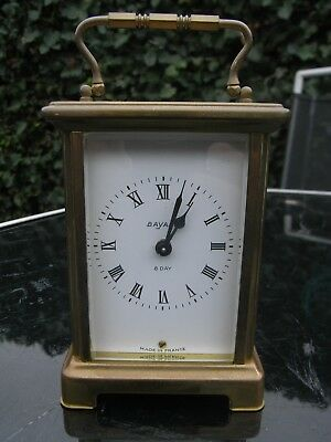 French Brass Cased Carriage Clock // Bayard