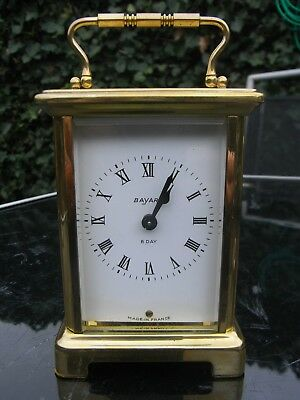 French Brass Cased Carriage Clock // Bayard 47221