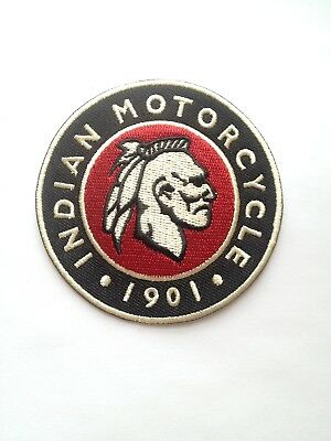 Indian Motorcycles 1901 ~ Embroidered Patch ~ Iron On Sew On
