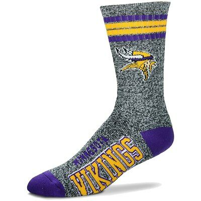 Minnesota Vikings Adult 4 Stripe Got Marbled Team Socks-1pair-Lrg Free S/H (wn)