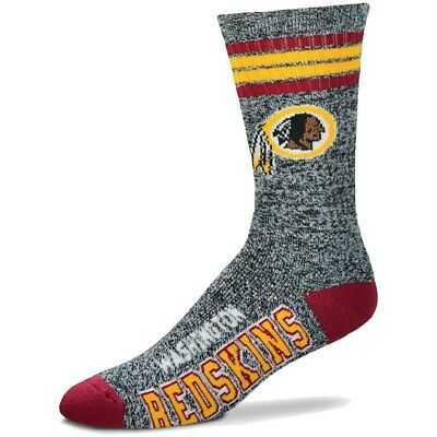 Washington Redskins Adult 4 Stripe Got Marbled Team Socks-1pair-Lg Free S/H (wn)