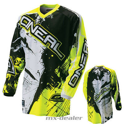 18 ALPINESTARS RACER SUPERMATIC MX MOTOCROSS CROSS JERSEY bianca blu giallo shirt
