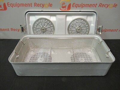 AESCULAP STERILIZATION TRAY Container System Case Basket Aluminum Lid  11