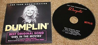 DUMPLIN Dolly Parton  FYC Best Original SONG CD FOR YOUR CONSIDERATION